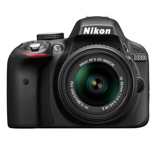 Nikon D3300 Digital SLR in Black + 18-55mm f/3.5-5.6 VR II L