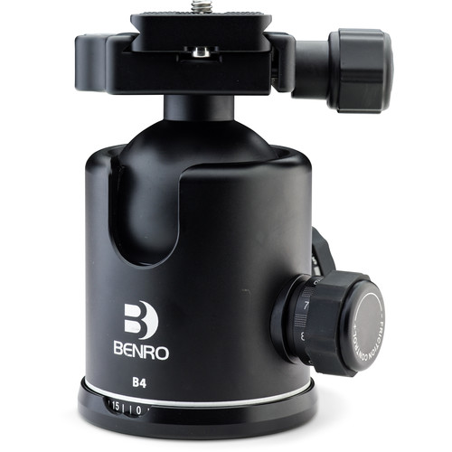 Benro B4 Triple Action Ball Head with PU70 Quick-Release Pla